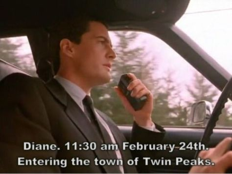 Agent Cooper entering Twin Peaks