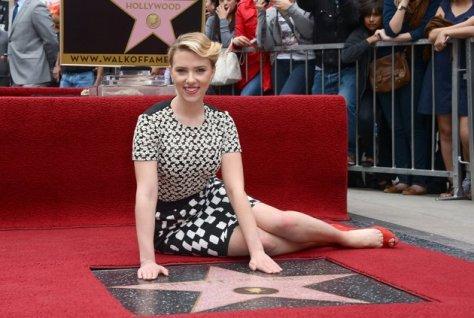 Scarlett Johansson 5 Walk of fame