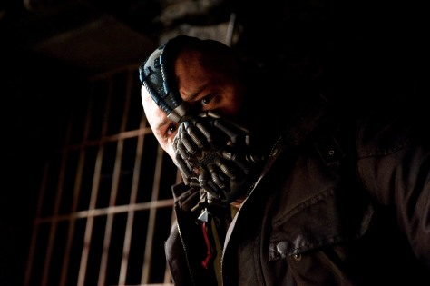 TOM HARDY as Bane in Warner Bros. PicturesÕ and Legendary PicturesÕ action thriller ÒTHE DARK KNIGHT RISES,Ó a Warner Bros. Pictures release. TM and © DC Comics