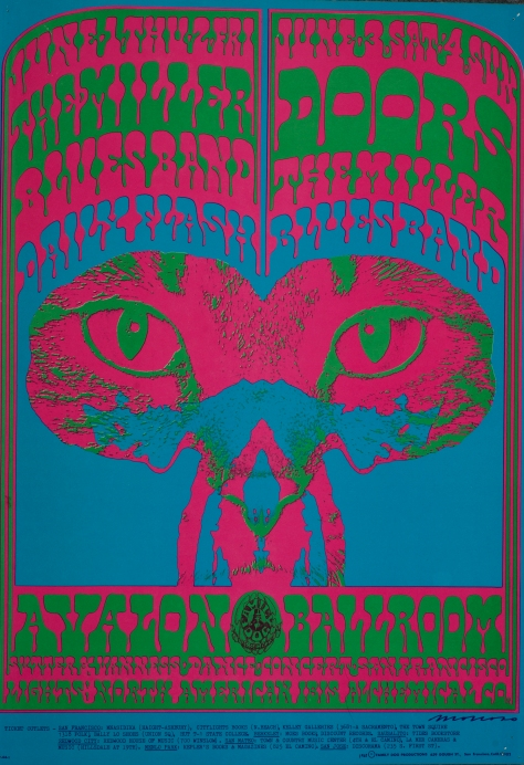 FD-64_Victor Moscoso_Avalon Ballroom 1967_Doors, Miller Blues Band
