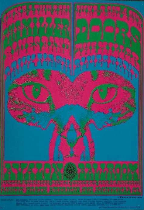 FD-64_Victor Moscoso_Avalon Ballroom 1967_Doors, Miller Blues Band