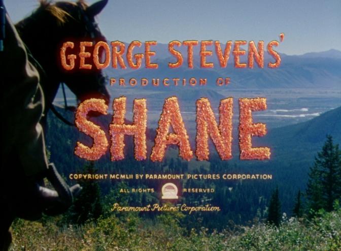 Shane / Mannen från Vidderna (1953) eller: En renhjärtad western